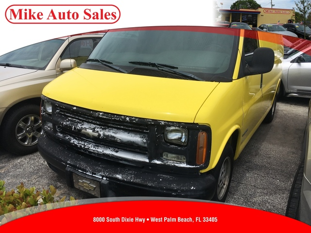 2002 CHEVROLET EXPRESS G1500 CARGO  Driver  Front Passenger Frontal AirbagsHeadlights-On Warnin